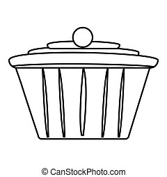 Cake icon , outline style