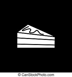 Cake icon, silhouette style