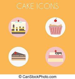 Cake Icons Set