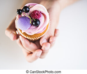 cake in hands