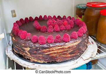 cake in the refrigerator