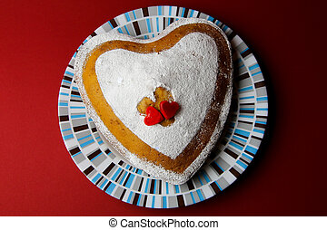 Cake in the shape of heart