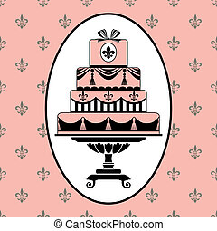 Cake invitation - Invitation template to birthday or wedding...