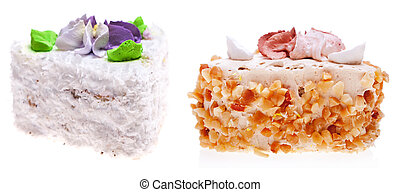 Cake isolated on a white.
