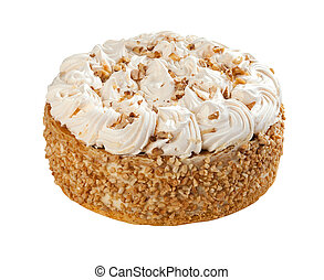 Cake isolated on white