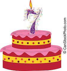 cake of seventh birthday