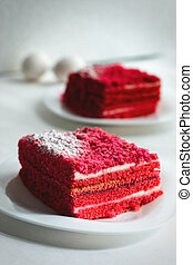 cake on a plate sweet food red