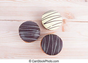 cake on a wooden board
