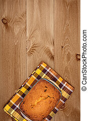 Cake On Wooden Background