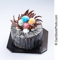 cake or birthday cake on a background. - cake or birthday...