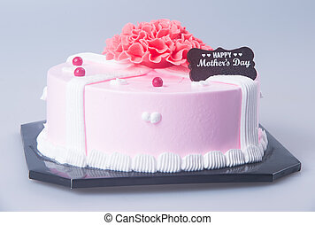 Birthday Cake Shot Images ~ Happy birthday cake shot on a crimson background with stock
