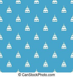 Cake pattern seamless blue