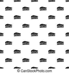 Cake pattern vector