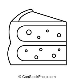 Cake pie icon in outline style vector illustration for design and web isolated