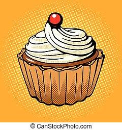 Cake pop art style vector