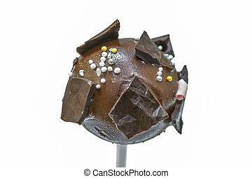 Cake pop on white background