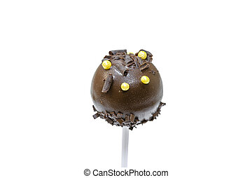 Cake pop on white