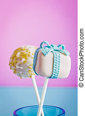 Cake pops as a gift with a candle - Cake pops as a gift, for...