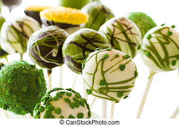 Cake pops - Chocolate cake pops with chic buttercream.