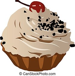 cake realistic vector illustration isolated