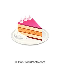 cake realistic . Vector Illustration Isolated on White Background