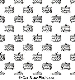 Cake seamless pattern