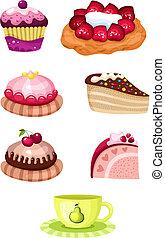 cake set - vector illustration of a cake set