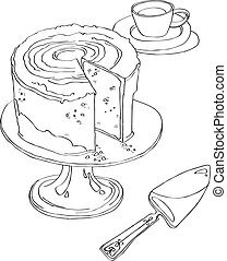 cake stands on Pedestal Plate