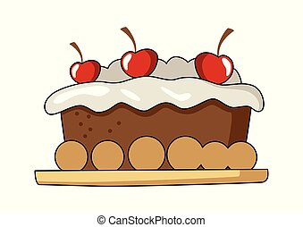 Cake Tart - Vector illustration of a cake tart isolated on ...