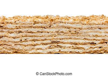 Cake texture on white