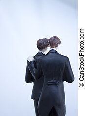 Cake topper gay wedding couple
