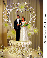 Cake topper - a wedding cake topper