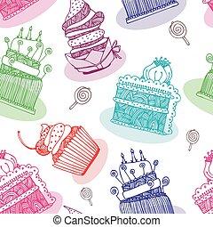 Cake vector background
