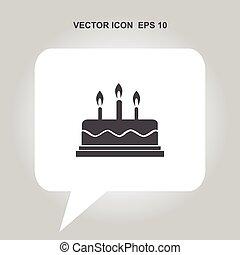 cake vector icon