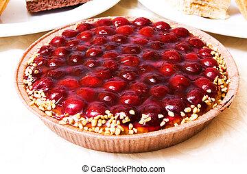 Cake with cherry