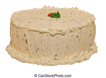 Cake with Cream Cheese Frosting - A hummingbird cake with...