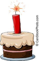 Cake with dynamite