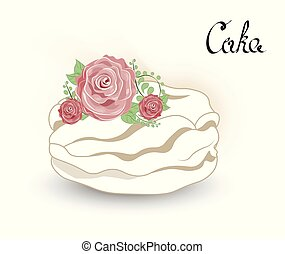 cake with flower