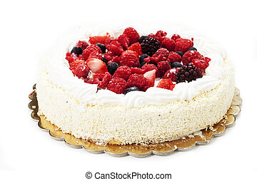 cake with forest fruits