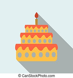 Cake with one candle