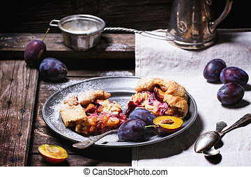Cake with plums