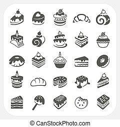 Cakes and dessert set, EPS10, Don't use transparency.