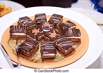 cakes at buffet dinner