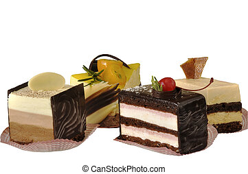 Cakes fruit different