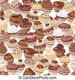 cakes, gemaakt, seamless, achtergrond