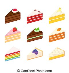 Cakes illustration set