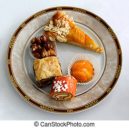cakes on a plate