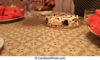cakes on the table Bon Appetit