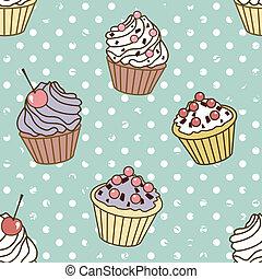 cakes pattern retro