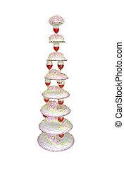 cakes, piramide